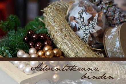 Winter DIY: Adventskranz für Weihnachten selber machen