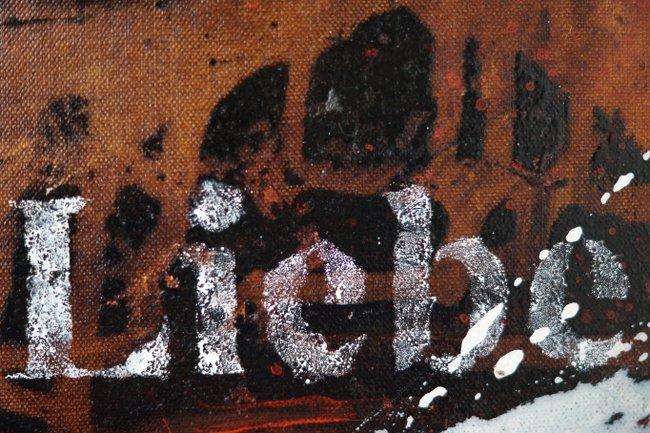 """Detail Schrift """"Liebe"""""""