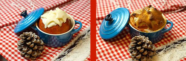 Bratapfel vor und nach dem Backen