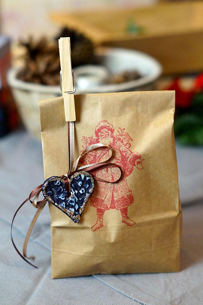Papiertasche mit Stempel