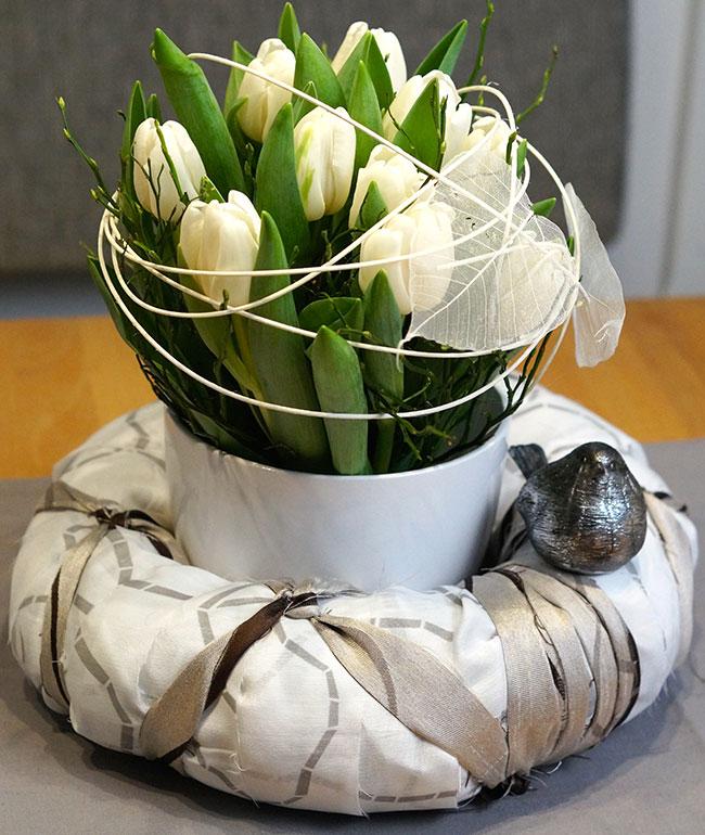 Kranz mit Tulpen
