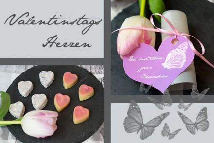 DIY Valentinstag - mit liebe gemachte Herzen