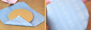 Deckel mit Stoff verkleiden