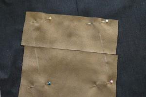Taschen Stoff annähen