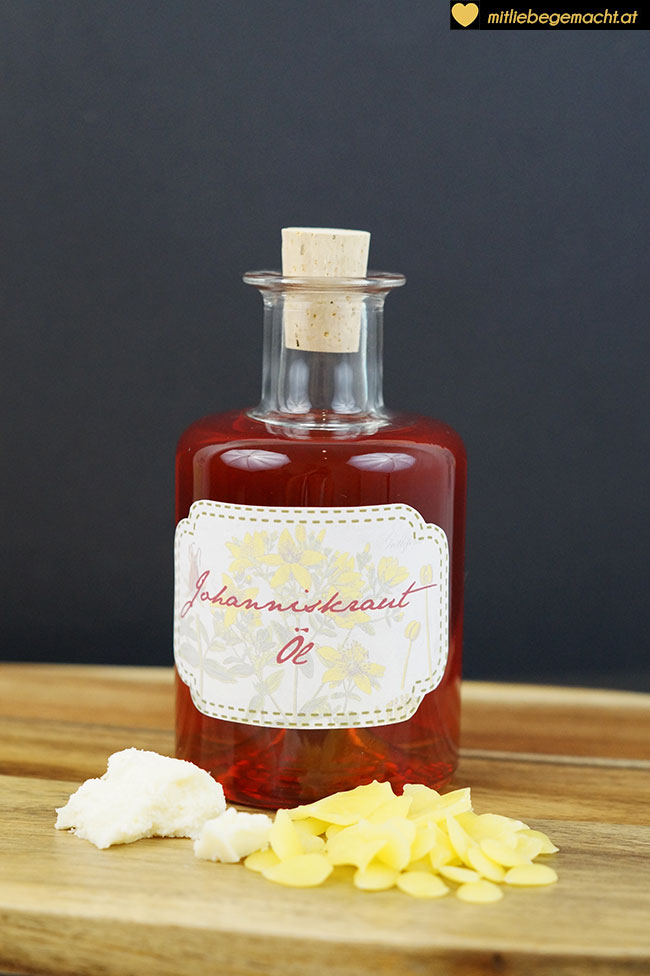 Zutaten Johanniskrautsalbe - Naturkosmetik Rezept