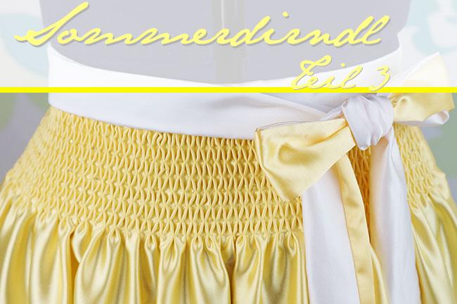 Sommerdirndl Teil 3 - handgesmokte Dirndlschürze | ♥ Mit Liebe ...