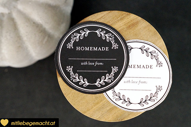 Edle Homemade Etiketten