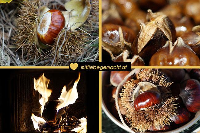 Wunderbare Herbstzeit mit Edelkastanien