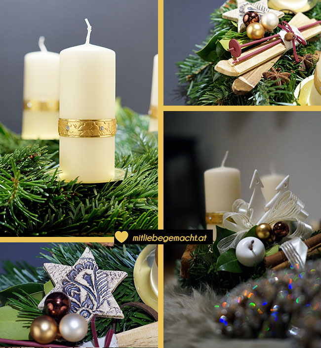 Adventskranz binden mit liebe gemacht mit liebe gemacht - Holzkranz dekorieren ...