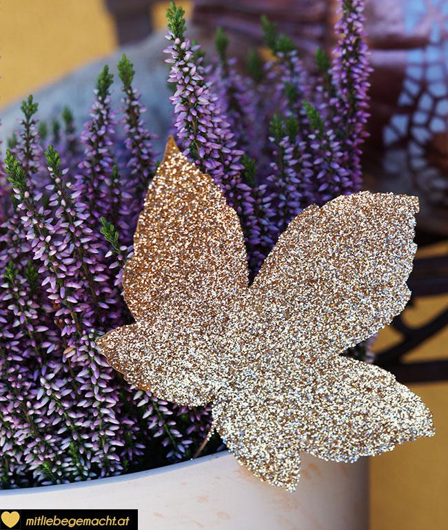 Blätter als Blumenstecker