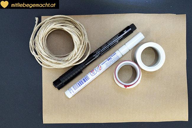 Material Papierhäuschen