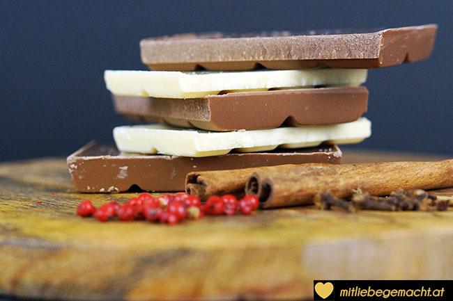 Helle und Dunkle Schokolade