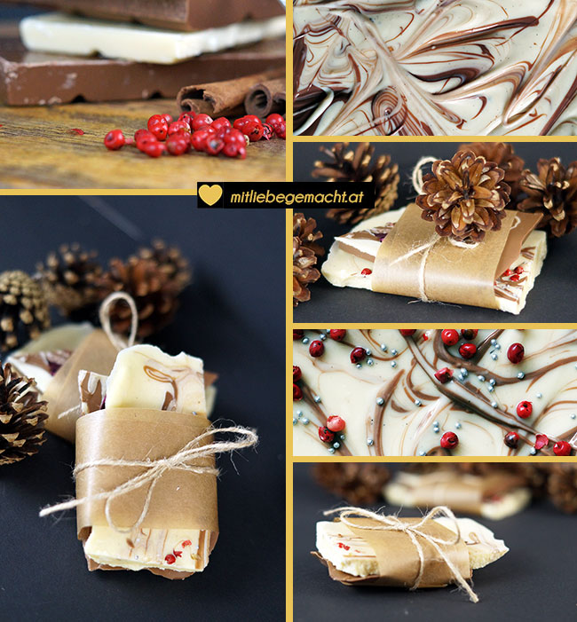 kleine geschenke weihnachtsschokolade selber machen. Black Bedroom Furniture Sets. Home Design Ideas