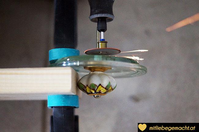 Schraubgewinde mit einer Mini-Flex abschneiden