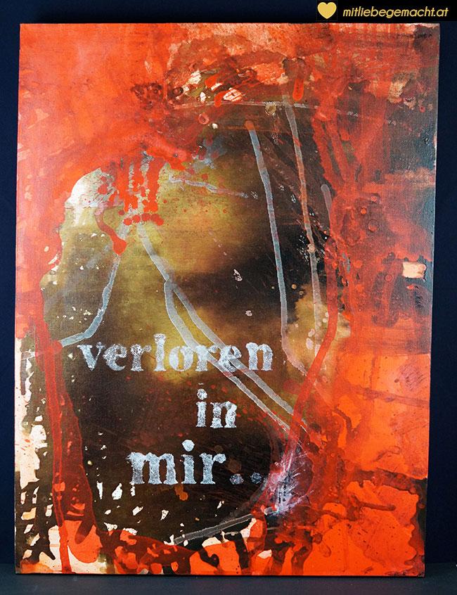Acrylbild - Verloren in Mir