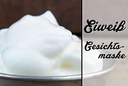 Eiweiß Gesichtsmaske mit Zitrone