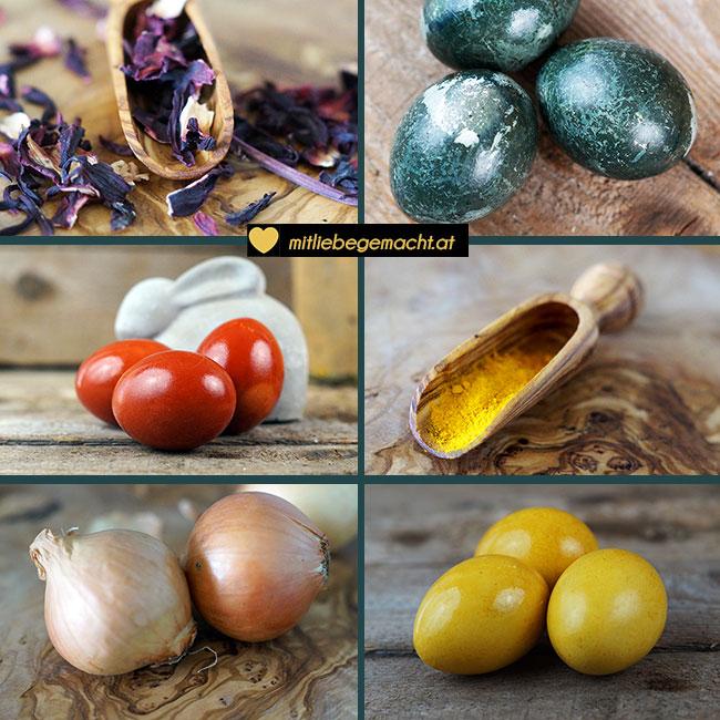 Ostereier natürlich färben