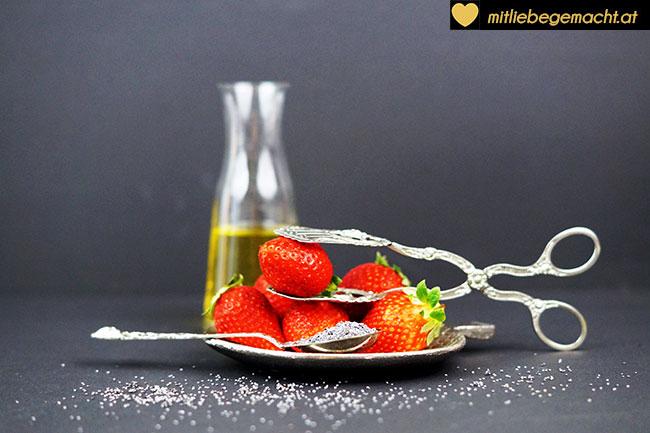 Erdbeerpeeling selber machen - die Zutaten - Kosmetik aus heimischen Kräutern und Pflanzen