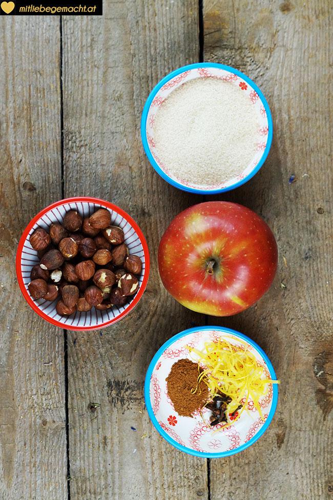 Zutaten Apfelkipferl selber machen