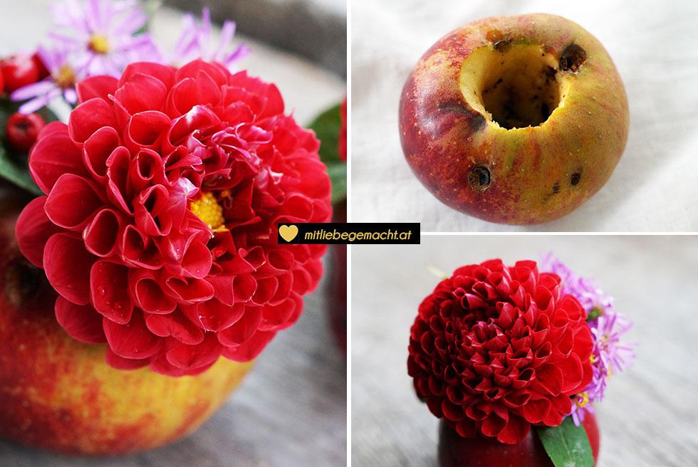 Apfelvasen - hübsche Herbstdeko