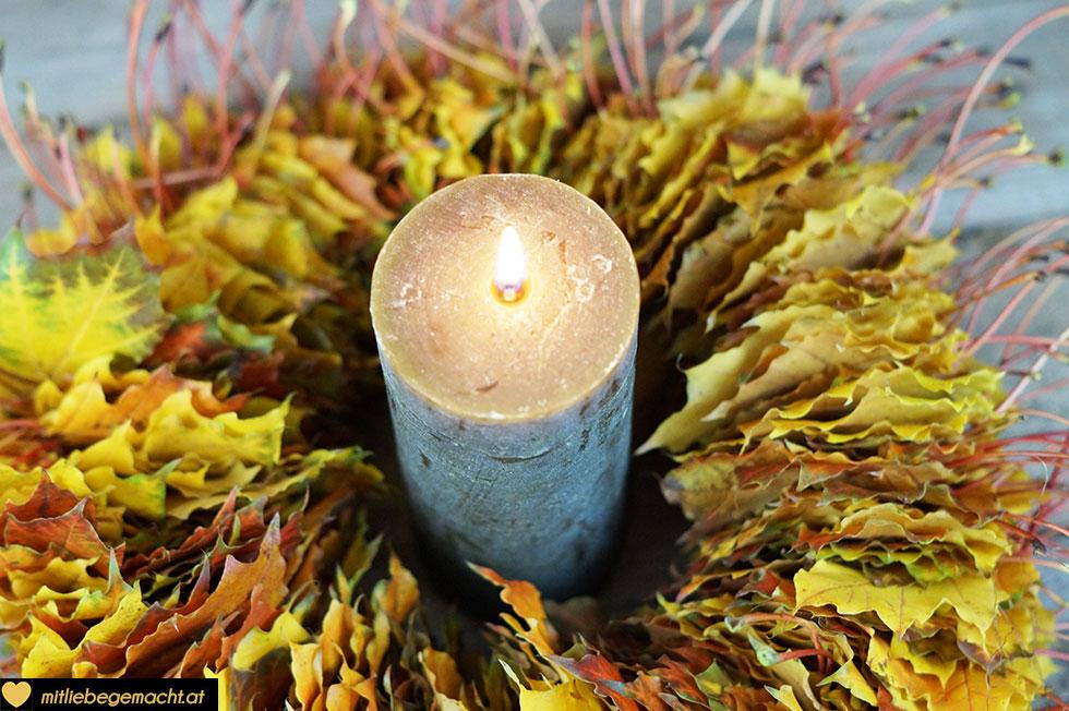stimmige Farben mit Kerzenschein