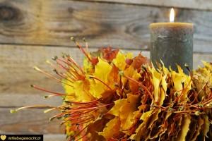 Kerzen-Blätter-Kranz