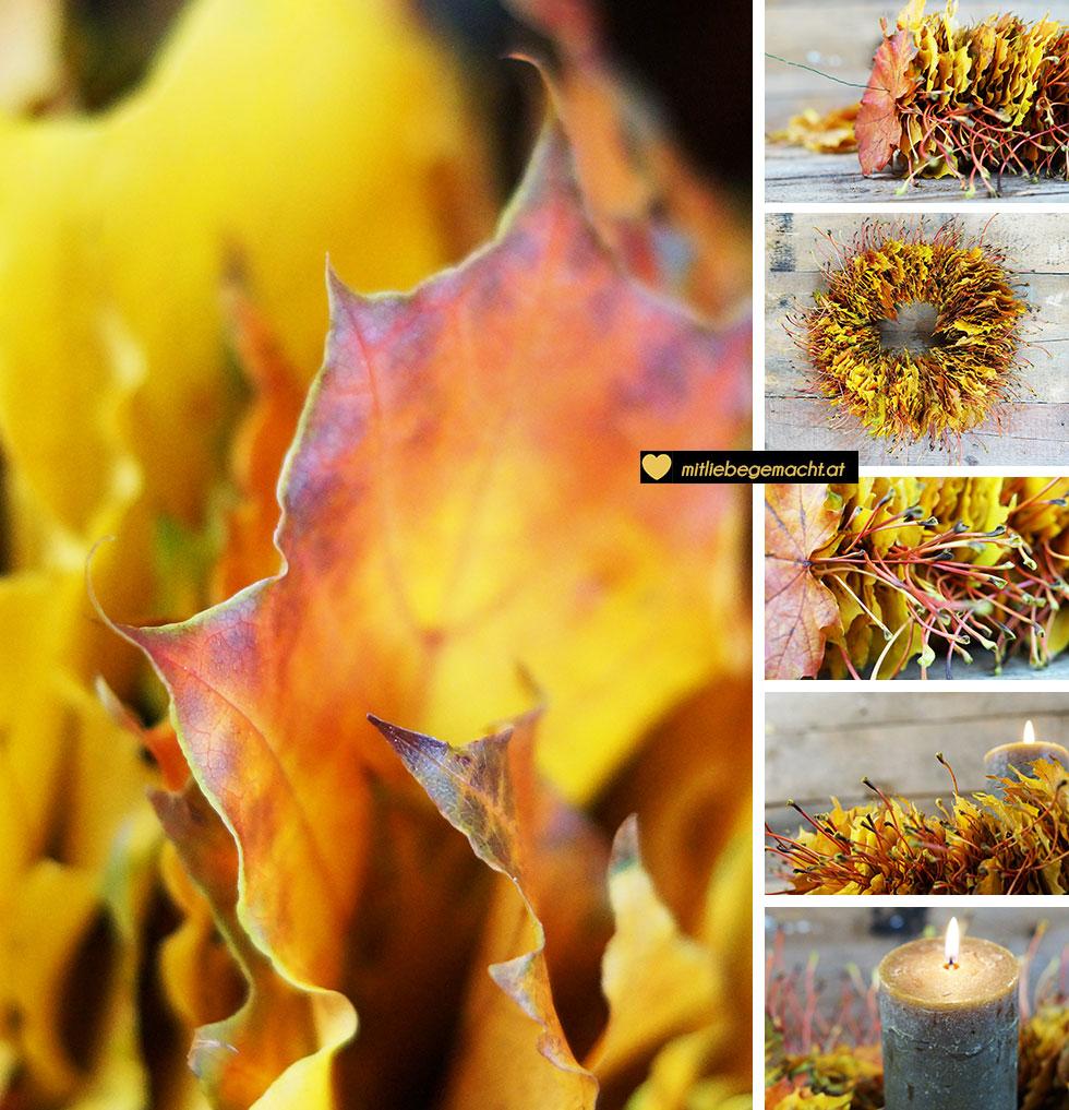 Blätterkranz selber machen