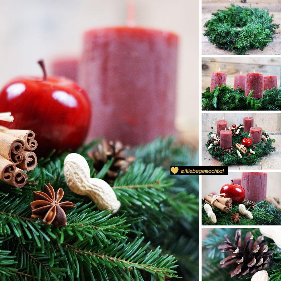 rustikaler adventskranz mit viel charme mit liebe gemacht mit liebe gemacht. Black Bedroom Furniture Sets. Home Design Ideas