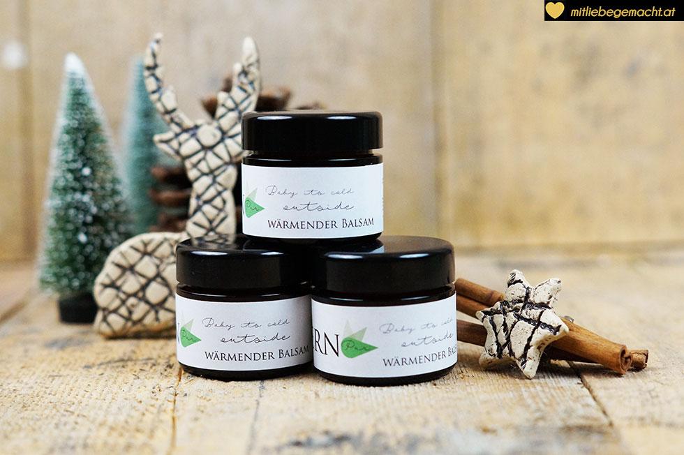 Wärmender Balsam - ein perfektes Geschenk - Naturkosmetik mit Liebe gemacht