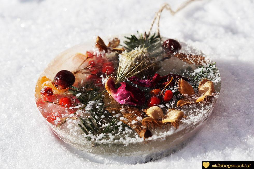 gefrorene Schönheit - Basteln im Winter