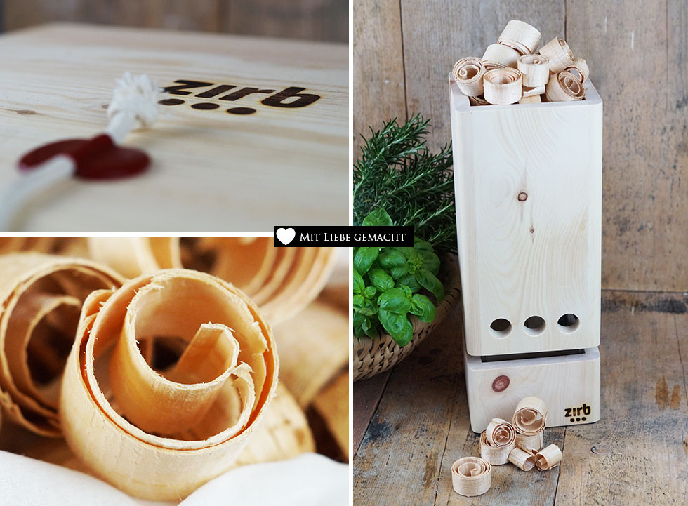 Zirbenholz hat viele bemerkenswerte Eigenschaften, die im zirb.Luft | Raumlüftervereint sind
