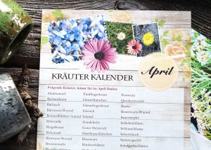 April Kräuterkalender