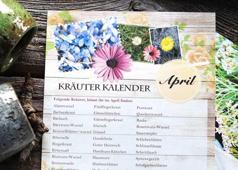April Kräuterkalender