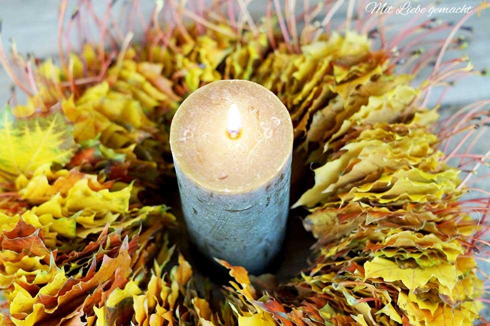 Blätterkranz - so gemütlich kann der Herbst sein
