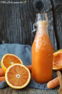 Blutorange-Karotten-Smoothie