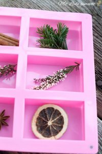 Seifenform mit Naturstücken
