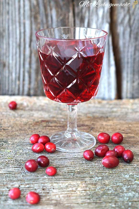 Cranberry Saft auch zum Vorbeugen