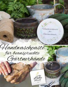 Handwaschpaste für beanspruchte Gärtnerhände