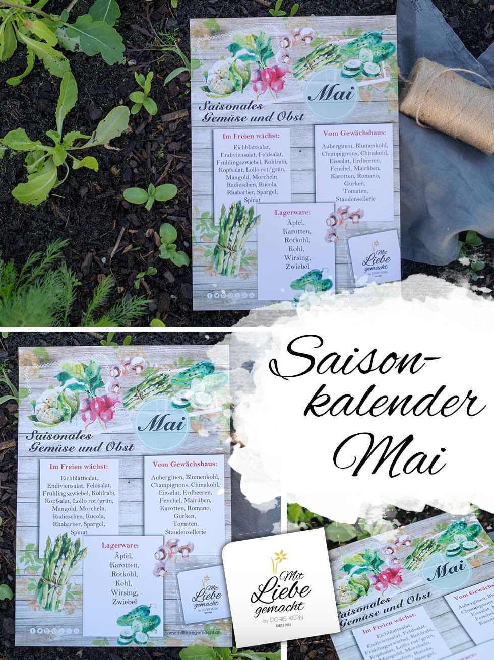 Saisonkalender Mai - frisches Obst und Gemüse