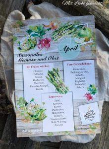Saisonkalender April - was gibt es aktuell an heimischen Gemüse