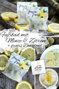 erfrischendes Fußbad mit Minze & Zitrone