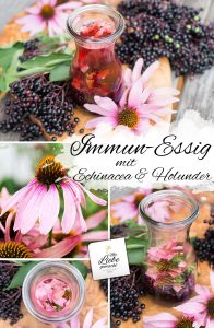 Immunstärkender Essig mit Holunder und Echinacea