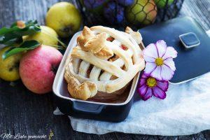 gefüllter Apfel frisch aus dem Ofen