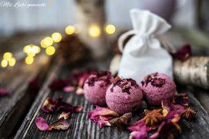 duftes Geschenk - Badebomben mit Rosen