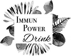 Etikette für den Immun Drink