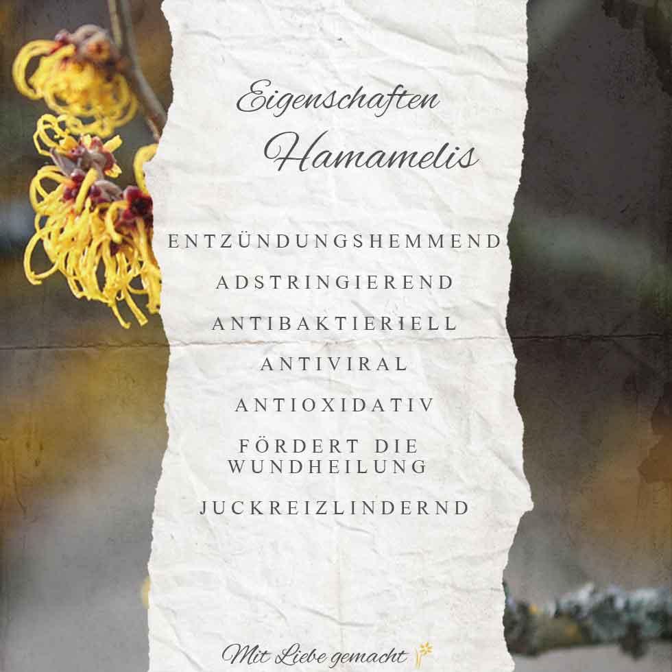 Eigenschaften der Hamamelis