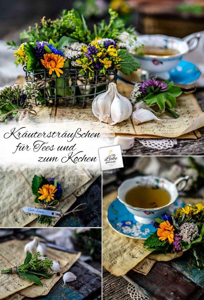 Kräutersträußchen für Tee und zum Kochen