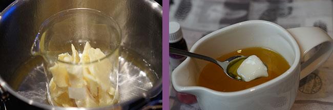 Buttern schmelzen - Herstellung natürlicher Kosmetik