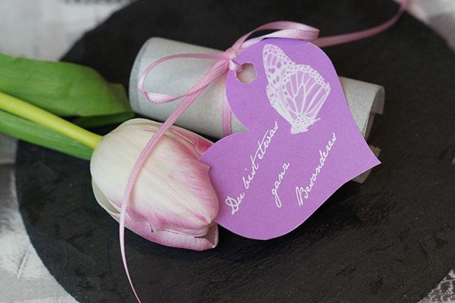 Herzen hübsch verpacken - Valentinsgeschenk selber machen