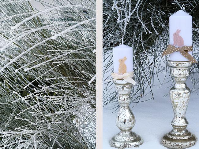 Kerzen mit Hasenmotiv für Ostern
